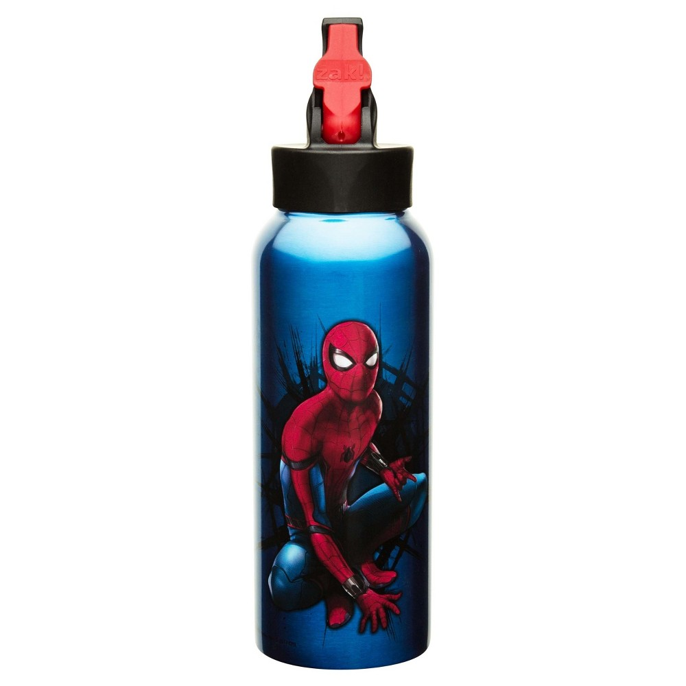Marvel Spider-Man 25oz Stainless Steel Kids' Water Bottle with Straw Lid - Blue