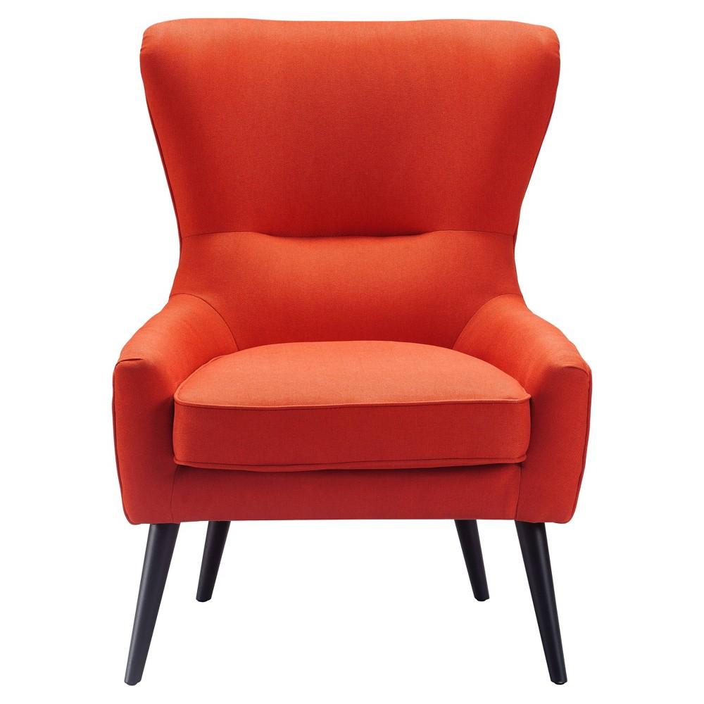 Image of Auburn Wingback Chair Orange - Finch