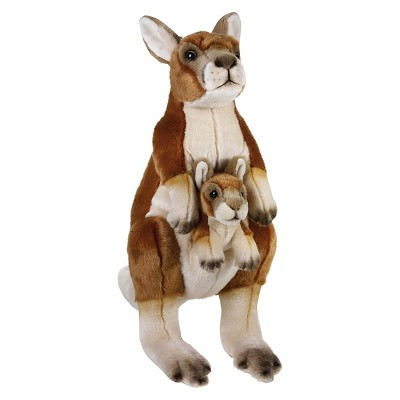 Lelly National Geographic Kangaroo with Baby Plush Toy