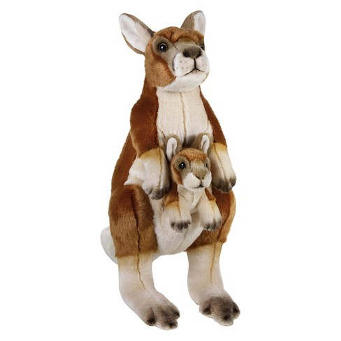 Lelly National Geographic Kangaroo With Baby Plush Toy Target