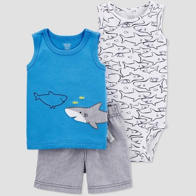 Baby Boys' Shark Top & Bottom Set - Just One You® made by carter's Blue 9M