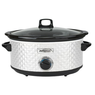Brentwood Select 7 Quart Slow Cooker in White
