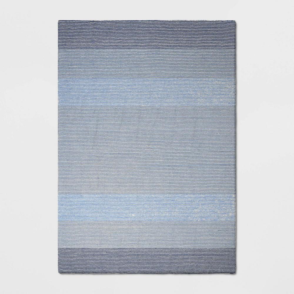 7'X10' Stripe Loomed Area Rug Blue - Threshold