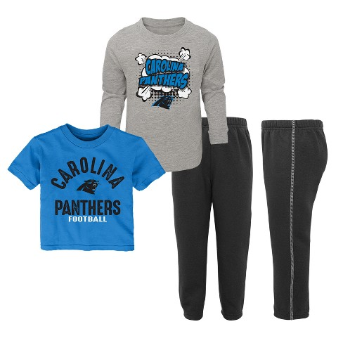 NFL Carolina Panthers Toddler Gametime Fun 3pk Shirt  Pants Set   Target 7f2264552