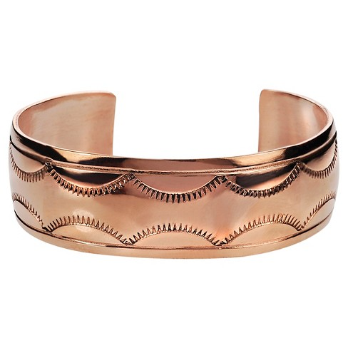 Women's Journee Collection Handcrafted Textured Cuff Bracelet in Copper - Copper - image 1 of 2