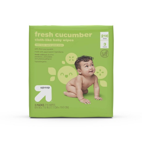 Fresh Cucumber Baby Wipes - Up&Up™ (Select Count) - image 1 of 4