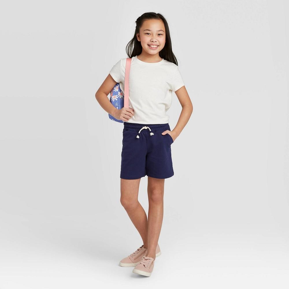 Girls 39 Knit Midi Pull On Shorts Cat 38 Jack 8482 Navy S