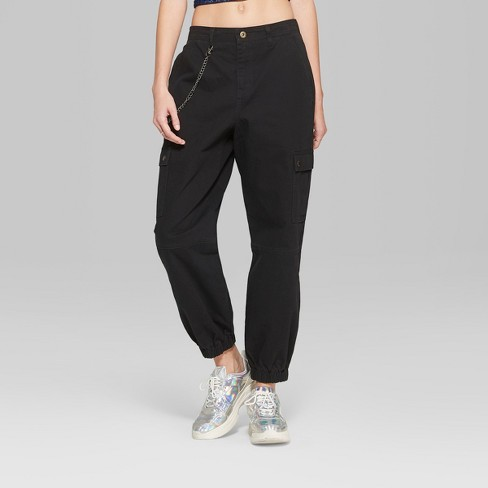 7b9ba9a6 Women's Twill Cargo Pants - Wild Fable™ Black : Target