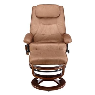 Deluxe Padded Massage Recliner - Relaxzen