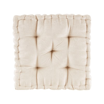 Ivory Square Floor Pillow Cushion (20 x20 )