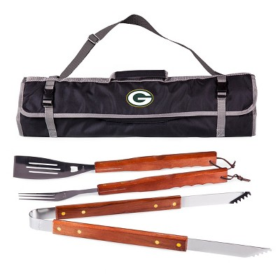 Green Bay Packers 3-Piece BBQ Tote and Tools Set by Picnic Time