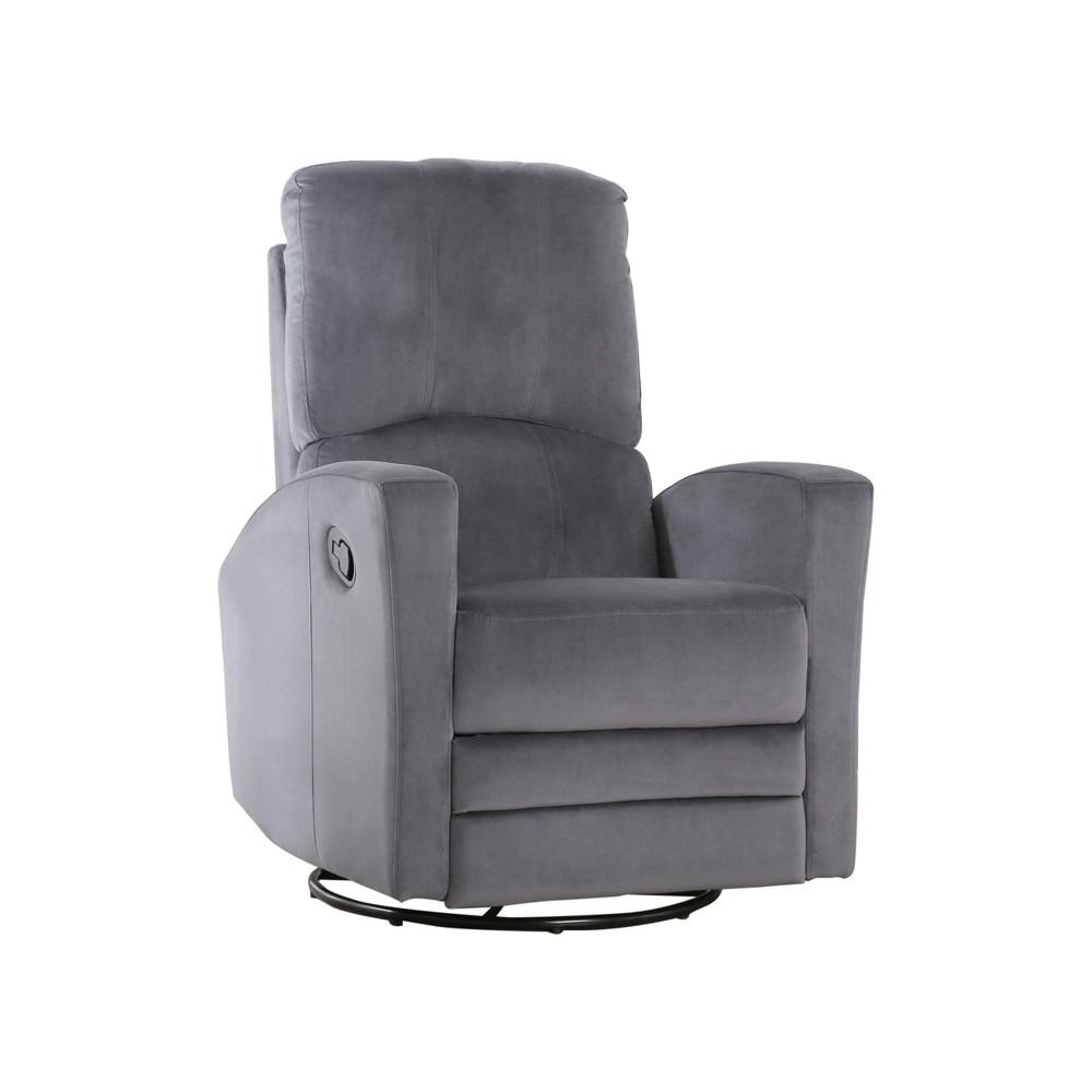 Balto Swivel Glider Recliner Chair Gray - Abbyson Living