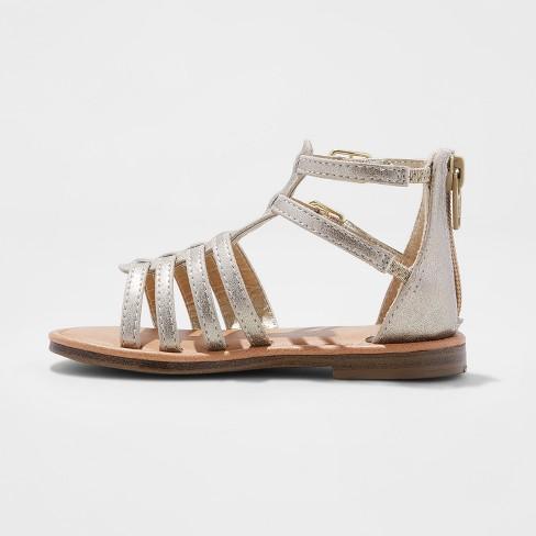 316436baab61 Toddler Girls  Taylor Gladiator Sandals - Cat   Jack™ Gold 8   Target