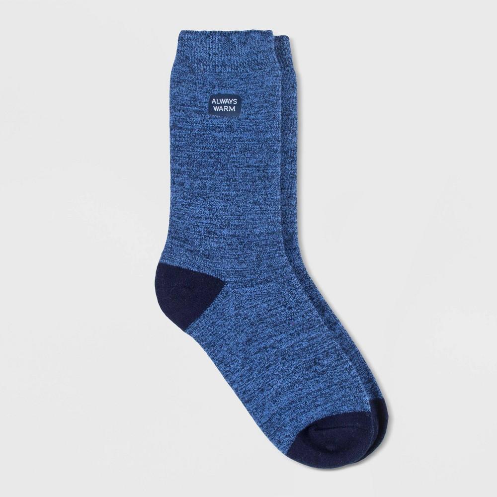 Image of Always Warm by Heat Holders Women's Twist Crew Socks - Navy 5-9, Size: Small, Blue