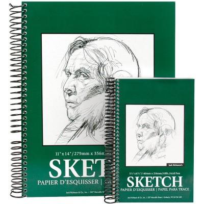 Jack Richeson Sulphite Sketch Pad, 8-1/2 x 11 Inches, 60 lb, 100 Sheets