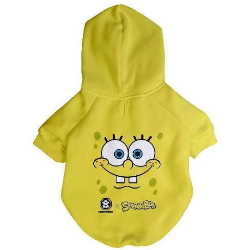 Fresh Pawz Spongebob X Fresh Pawz Face Dog Hoodie - L - image 1 of 1