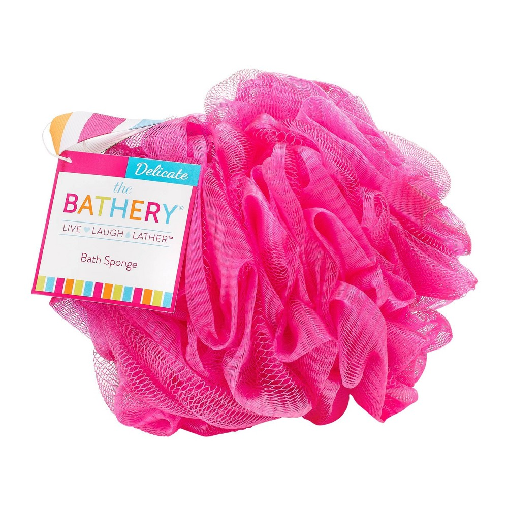 Image of The Bathery Delicate Bath Sponge - Pink