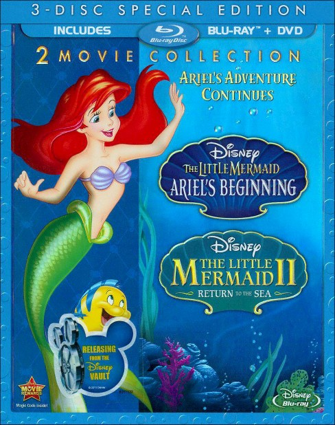 The Little Mermaid II: Return to the Sea/The Little Mermaid: Ariel's Beginning [3 Discs] [Blu-ray/DVD] - image 1 of 1
