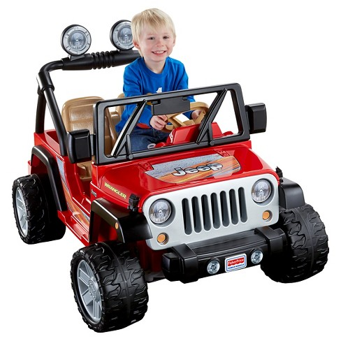 Fisher-Price Power Wheels Jeep Wrangler - Red - image 1 of 9