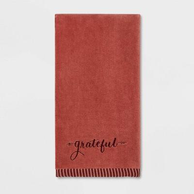 Harvest Grateful Solid Hand Towel Maroon - Threshold™