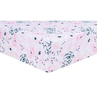Trend Lab Fitted Crib Sheet - Watercolor Floral