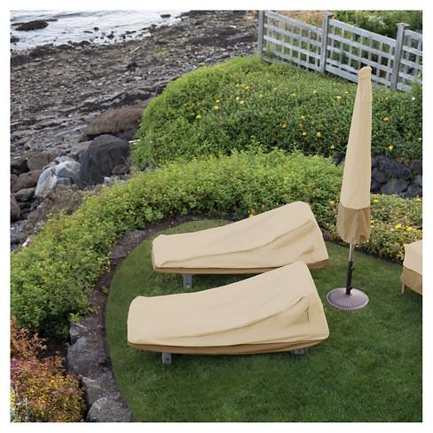 Veranda Patio Chaise Lounge Cover Large Light Pebble Classic