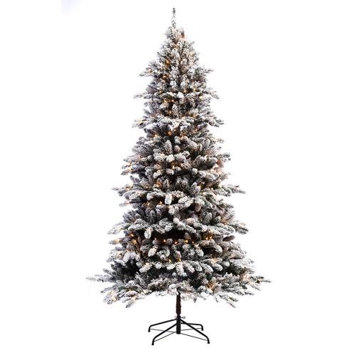 new product 59b04 5bc5c 7.5ft Pre-lit Artificial Christmas Tree Flocked Full Bradford Fir