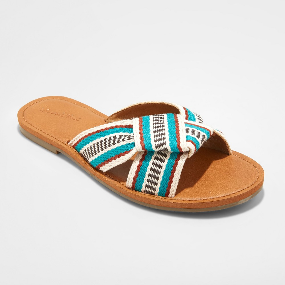 Women's Rylie Knotted Slide Sandal - Universal Thread Turquoise 12