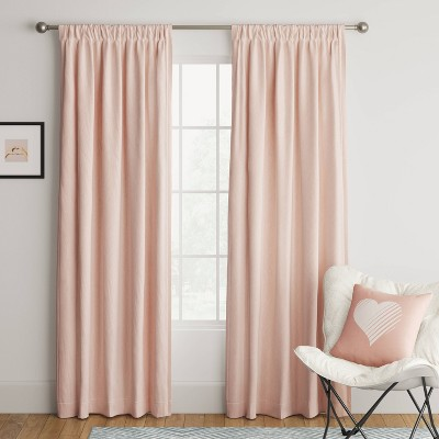 Heathered Thermal Room Darkening Curtain Panel - Room Essentials™