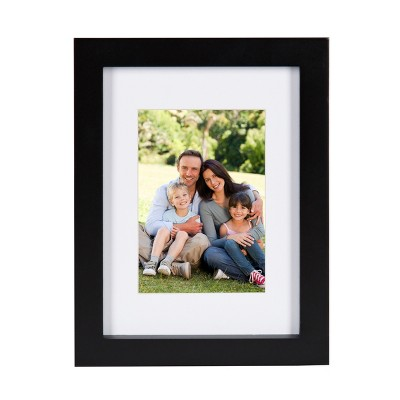 """5"""" x 7"""" Matted to 3.5"""" x 5"""" Gallery Tabletop Frame Black - DesignOvation"""