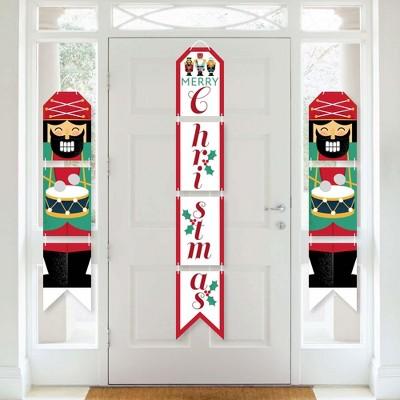 Big Dot of Happiness Christmas Nutcracker - Hanging Vertical Paper Door Banners - Holiday Party Wall Decoration Kit - Indoor Door Decor