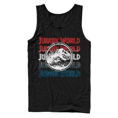 Men's Jurassic World: Fallen Kingdom 4th of July Logo Tank Top