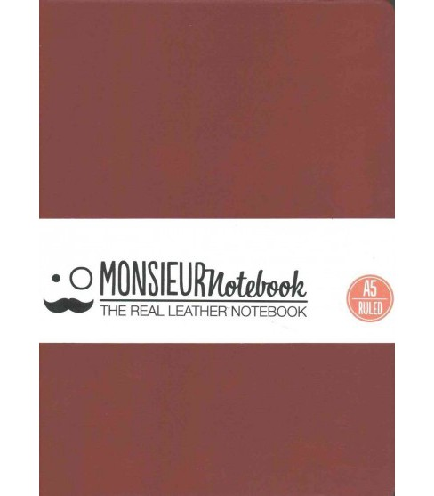Monsieur Notebook Soft Leather Journal : Ruby Red Ruled Medium (Hardcover) - image 1 of 1