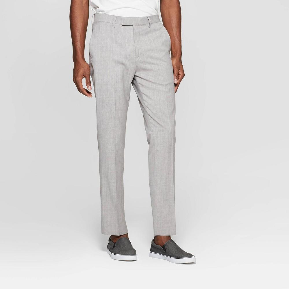 Men's 28 Slim Fit Suit Pants - Goodfellow & Co Jet Gray 36x28