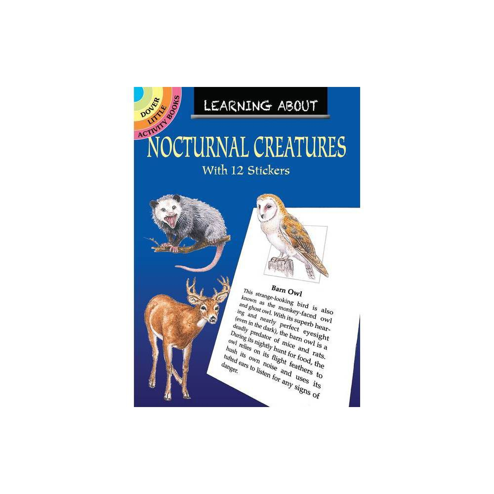 Learning About Nocturnal Creatures Dover Little Activity Books By Sy Barlowe Paperback