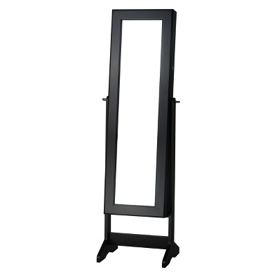 Cheval Free Standing Jewelry Armoire Black - FirsTime