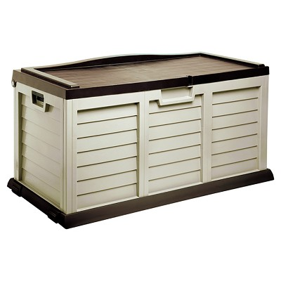 Deck Box With Sit On Cover 103 Gallon - Mocha/Brown - Starplast
