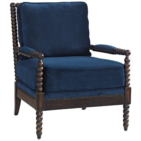 Revel Upholstered Fabric Armchair Navy - Modway - image 1 of 5