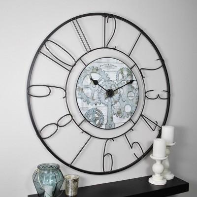 FirsTime Fulshaw Gears Wall Clock Black