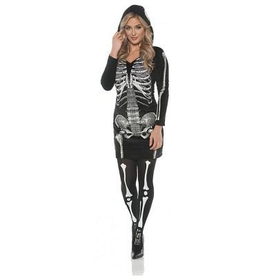 Underwraps Costumes Women's Skeletal Hoodie Dress Costume