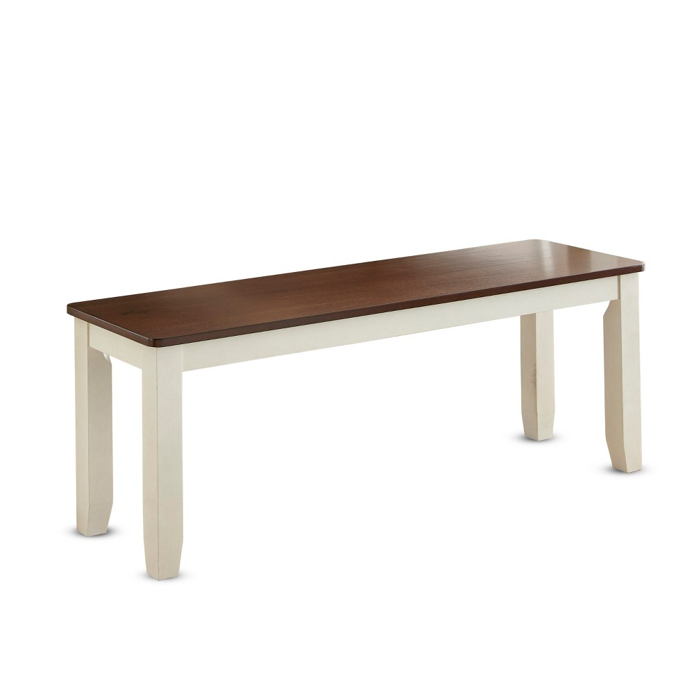 Aida Dining Bench Two Tone - Steve Silver