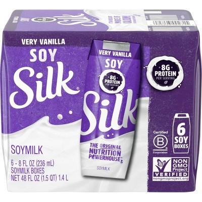 Silk Vanilla Soy Milk - 8oz/6pk
