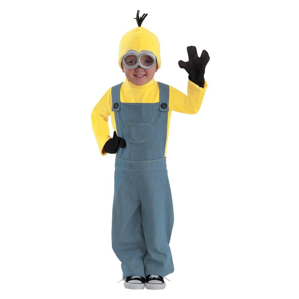 Minions Bob Kids' Costume - XL(14-16), Boy's, Yellow
