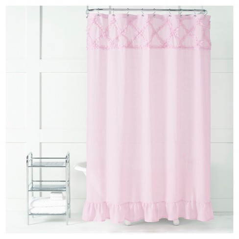 Garden Crossings Polyester/Cotton Shower Curtain Pink - Saturday Knight Ltd - image 1 of 1