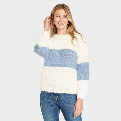 Women's Crewneck Colorblock Pullover Sweater - Knox Rose™