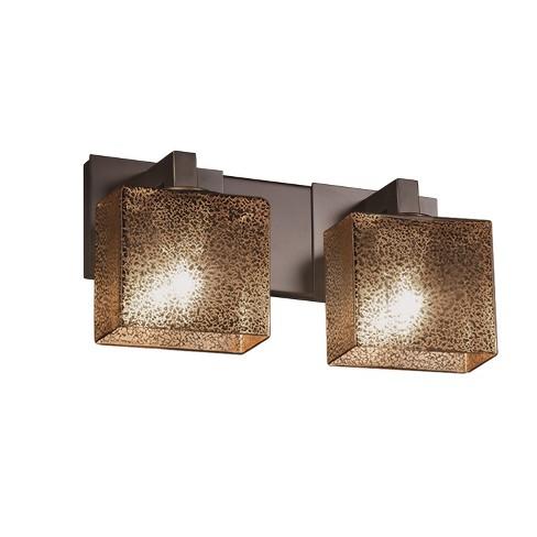 "Justice Design Group FSN-8922-55-MROR-LED2-1400 Fusion 15"" Modular 2 Light LED Mercury Glass Vanity Light - image 1 of 1"
