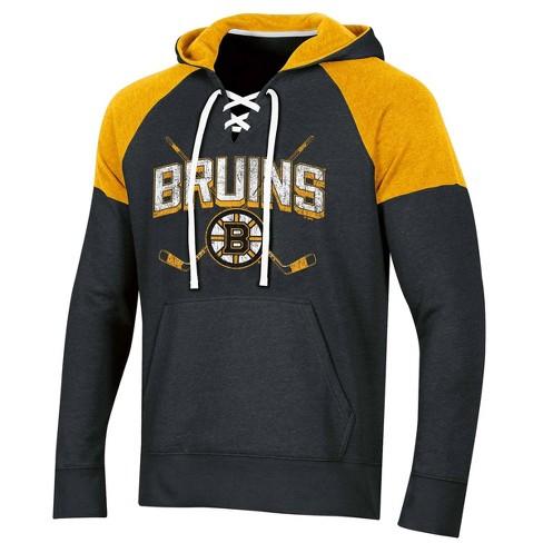 NHL Boston Bruins Men's Hat Trick Laced Hoodie - image 1 of 2