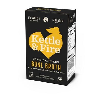 Kettle & Fire Chicken Bone Broth - 16.9oz