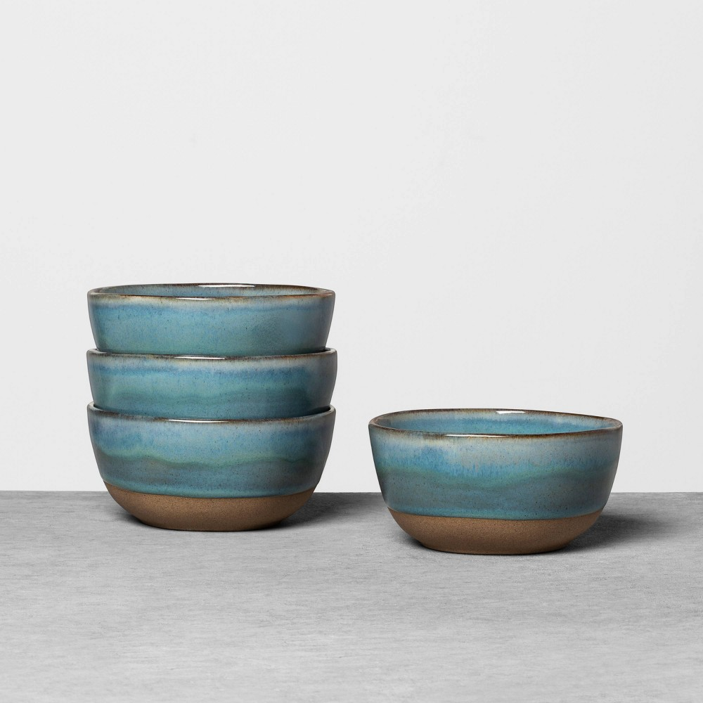 4pk Stoneware Reactive Exposed Base Mini Bowl Dark Blue - Hearth & Hand with Magnolia was $15.99 now $7.99 (50.0% off)