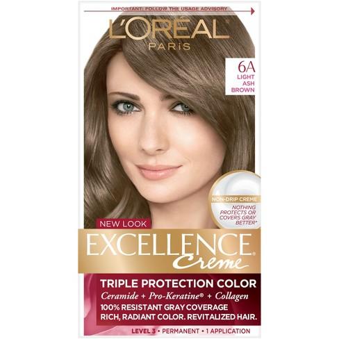 Loreal Paris Excellence Triple Protection Permanent Hair Color 6a
